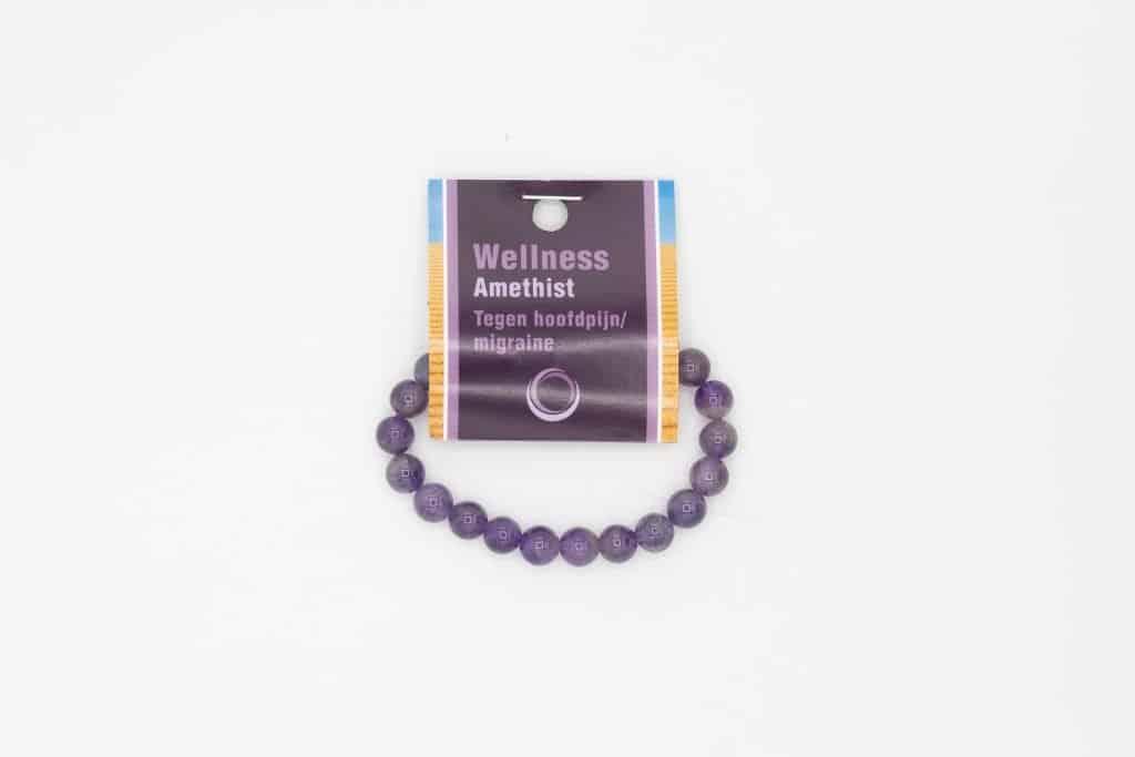 Amethist powerbead armband + kaart