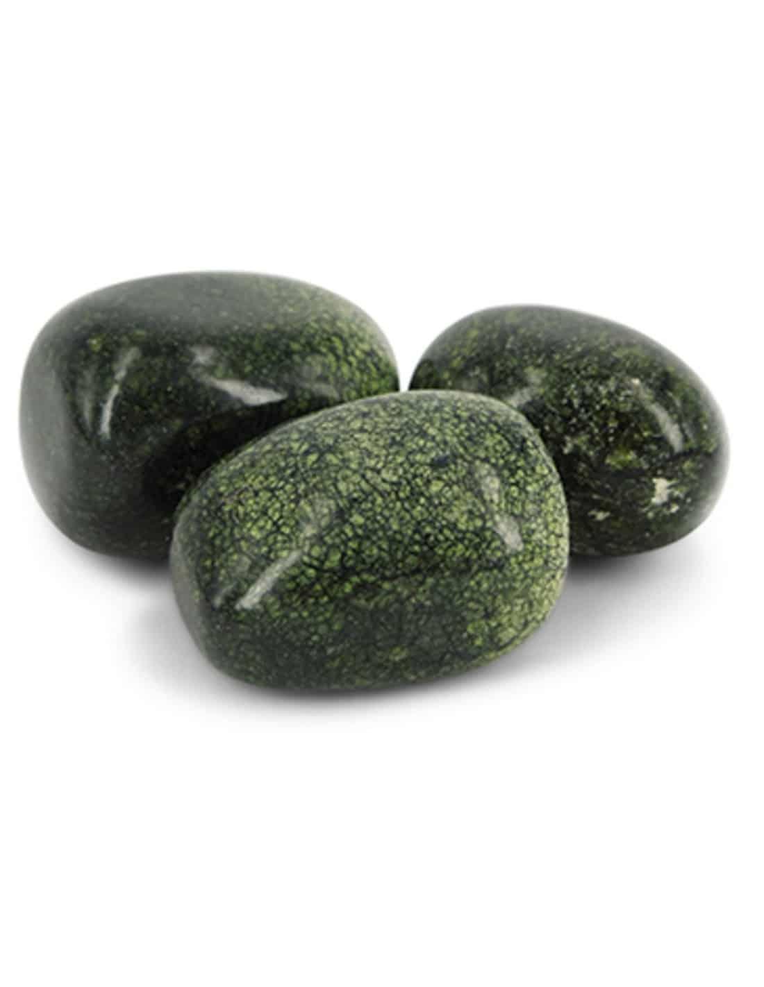 3 Groene Agaat Trommelstenen